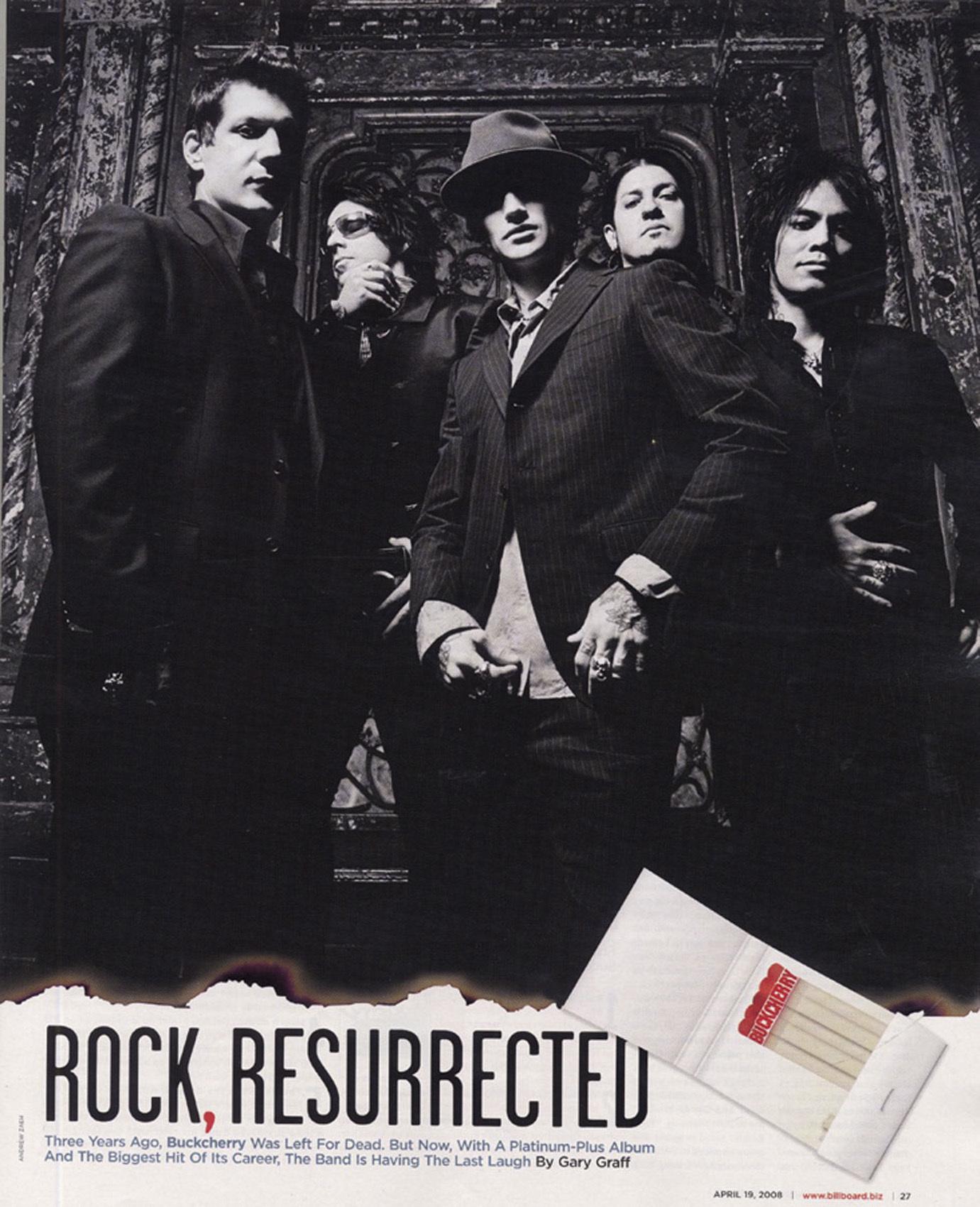 Buckcherry - Billboard - April 19, 2008 - Pg 1